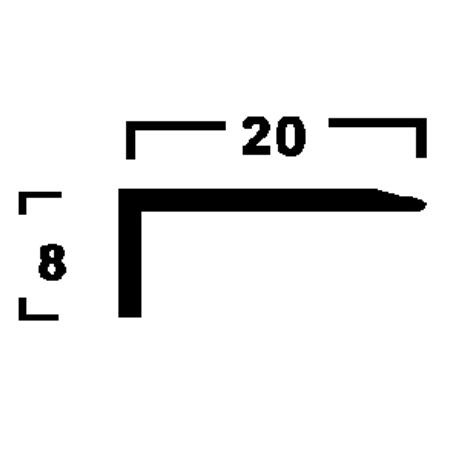 Ángulo 20 x 8