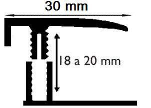 Carril Terminal - 18mm