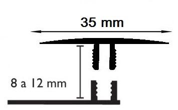 Carril Dilatación - 35/10mm