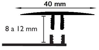 Carril Dilatación - 40/10mm