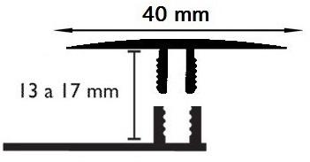Carril Dilatación - 40/14mm