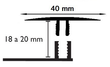 Carril Dilatación - 40/18mm