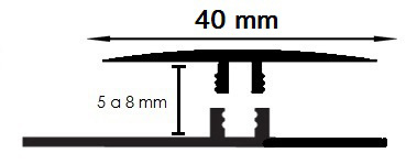 Carril Dilatación - 40/5mm
