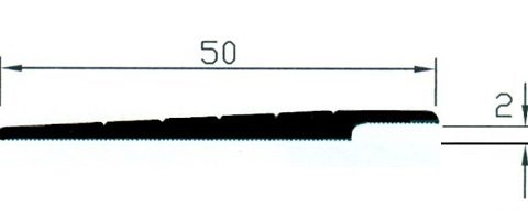Rampa 2/4mm.